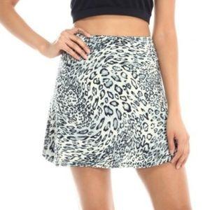 Dresses & Skirts - 🆕 Animal Print Stretch A-Line Skirt
